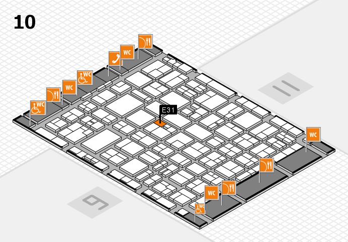 MEDICA 2016 hall map (Hall 10): stand E31