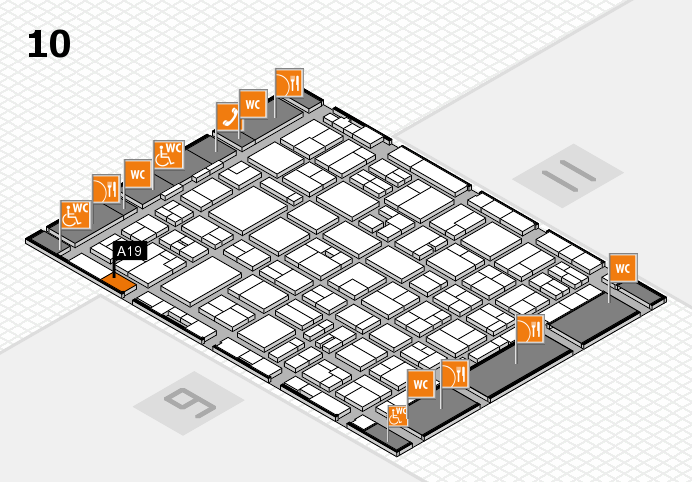 MEDICA 2016 hall map (Hall 10): stand A19