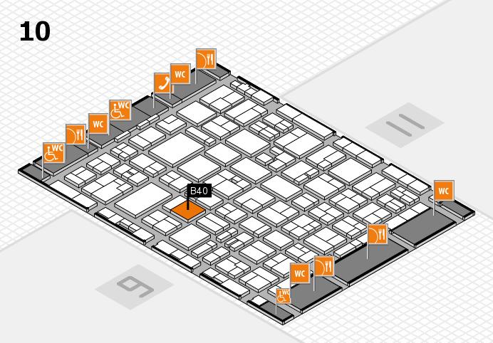 MEDICA 2016 hall map (Hall 10): stand B40