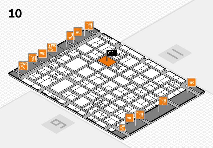MEDICA 2016 hall map (Hall 10): stand G21