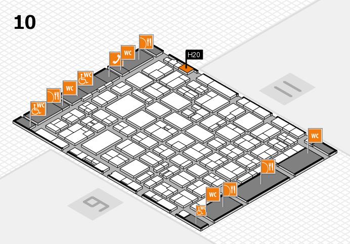 MEDICA 2016 hall map (Hall 10): stand H20