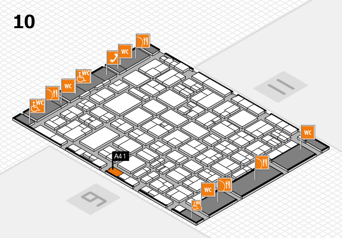 MEDICA 2016 hall map (Hall 10): stand A41
