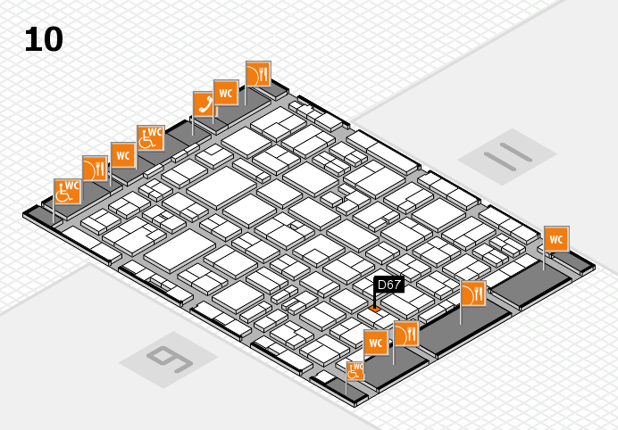 MEDICA 2016 hall map (Hall 10): stand D67