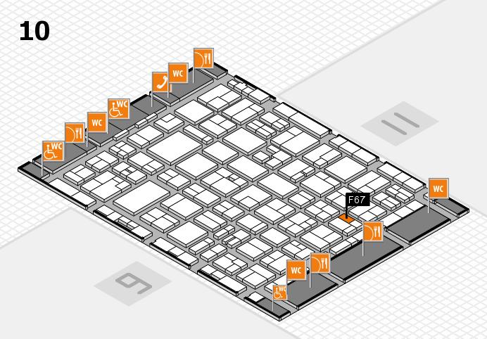 MEDICA 2016 hall map (Hall 10): stand F67