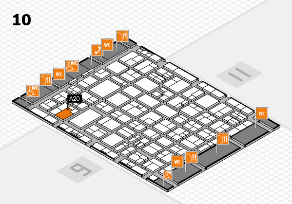 MEDICA 2016 hall map (Hall 10): stand A20