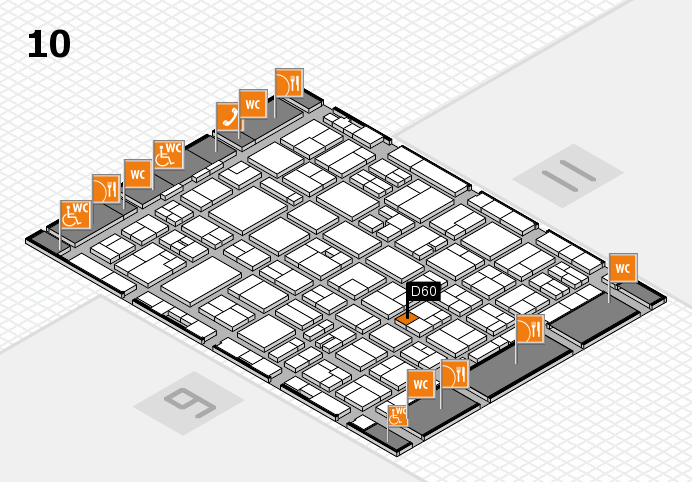 MEDICA 2016 hall map (Hall 10): stand D60