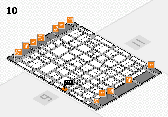 MEDICA 2016 hall map (Hall 10): stand A57