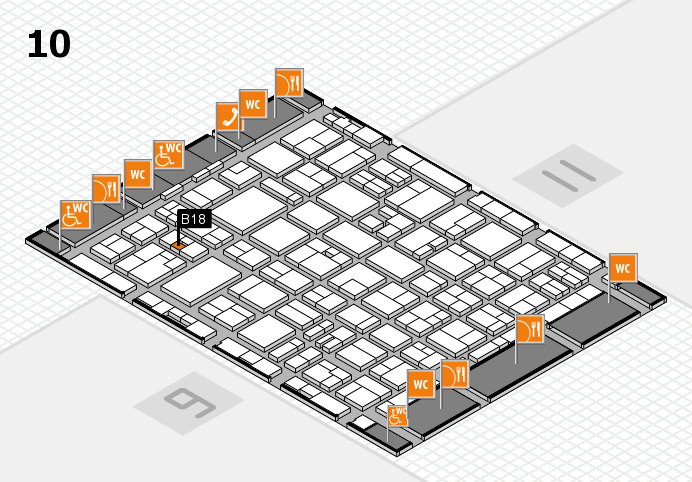 MEDICA 2016 hall map (Hall 10): stand B18