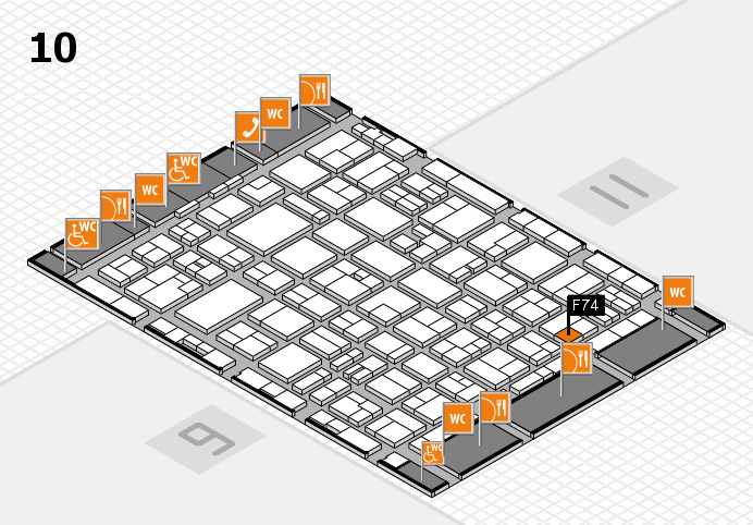 MEDICA 2016 hall map (Hall 10): stand F74