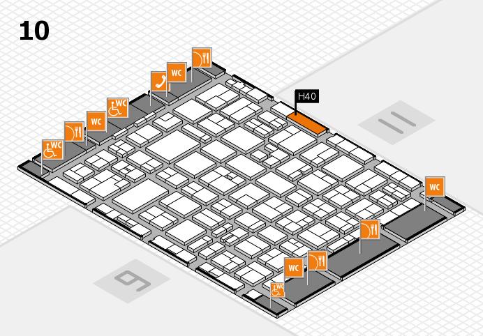 MEDICA 2016 hall map (Hall 10): stand H40