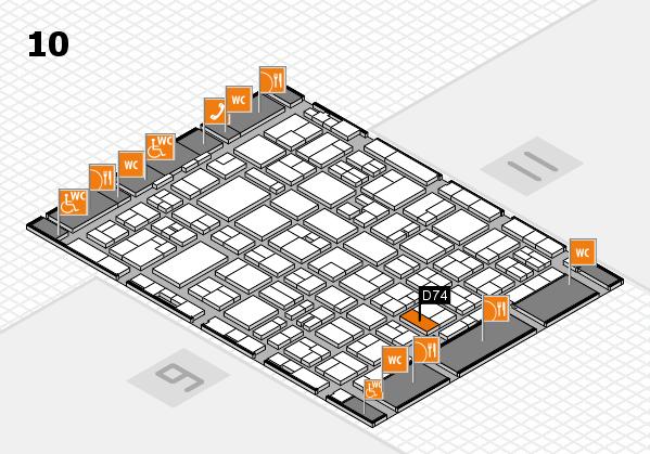 MEDICA 2016 hall map (Hall 10): stand D74