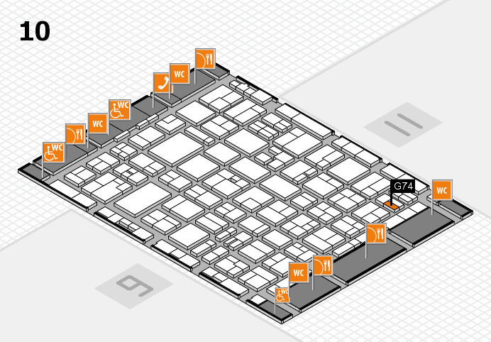 MEDICA 2016 hall map (Hall 10): stand G74