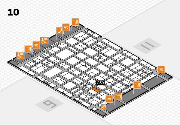 MEDICA 2016 hall map (Hall 10): stand C59