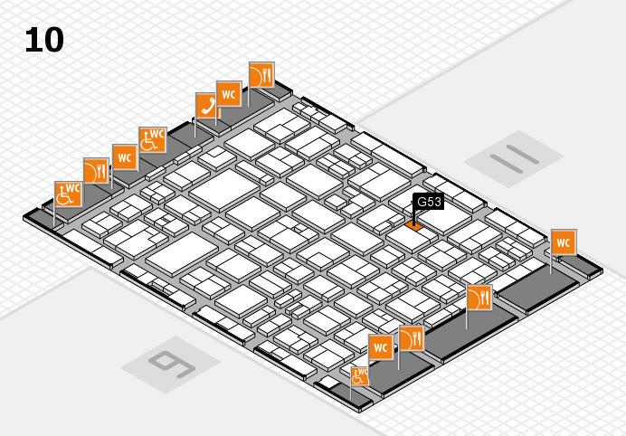 MEDICA 2016 hall map (Hall 10): stand G53