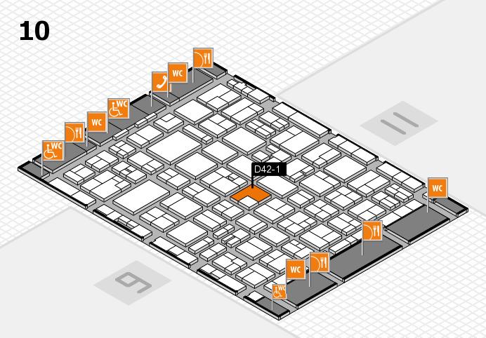 MEDICA 2016 hall map (Hall 10): stand D42-1