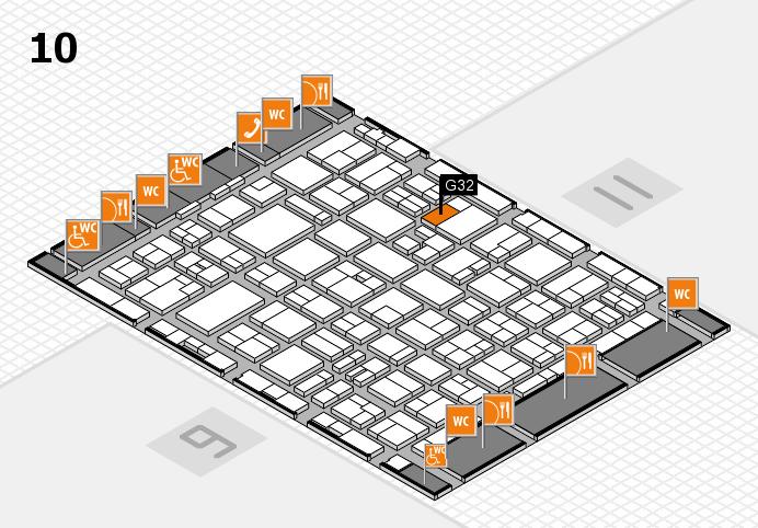 MEDICA 2016 hall map (Hall 10): stand G32