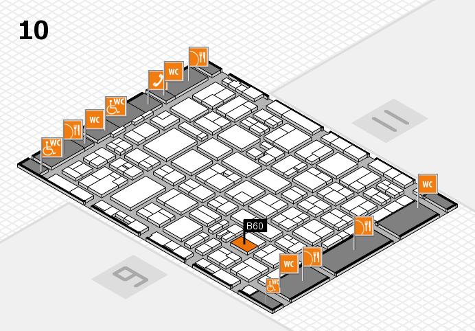 MEDICA 2016 hall map (Hall 10): stand B60