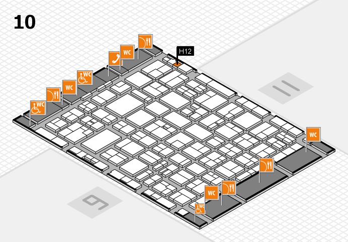 MEDICA 2016 hall map (Hall 10): stand H12