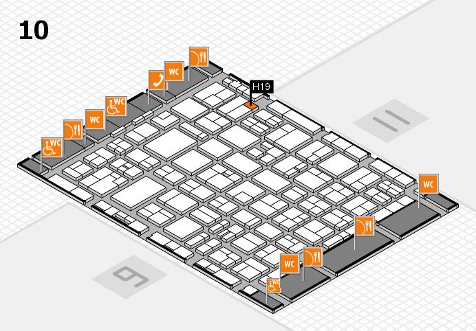 MEDICA 2016 hall map (Hall 10): stand H19