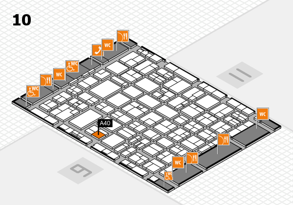 MEDICA 2016 hall map (Hall 10): stand A40