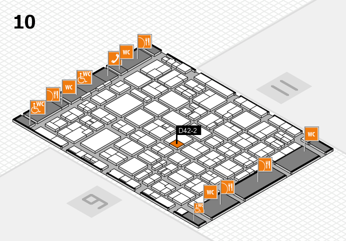 MEDICA 2016 hall map (Hall 10): stand D42-2