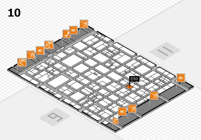 MEDICA 2016 hall map (Hall 10): stand E60
