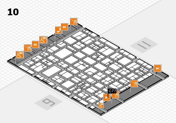 MEDICA 2016 hall map (Hall 10): stand C77