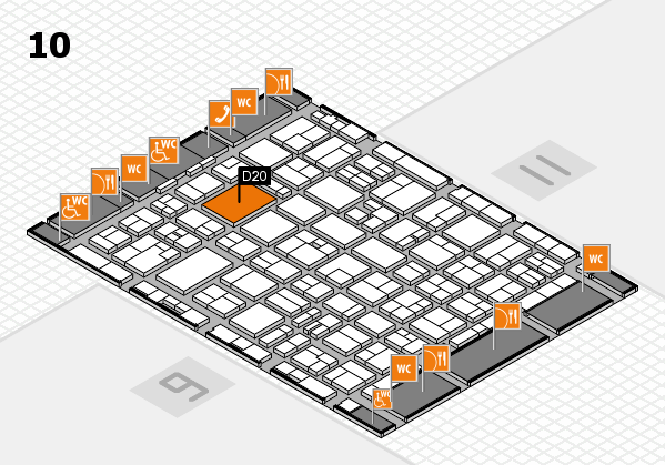 MEDICA 2016 hall map (Hall 10): stand D20