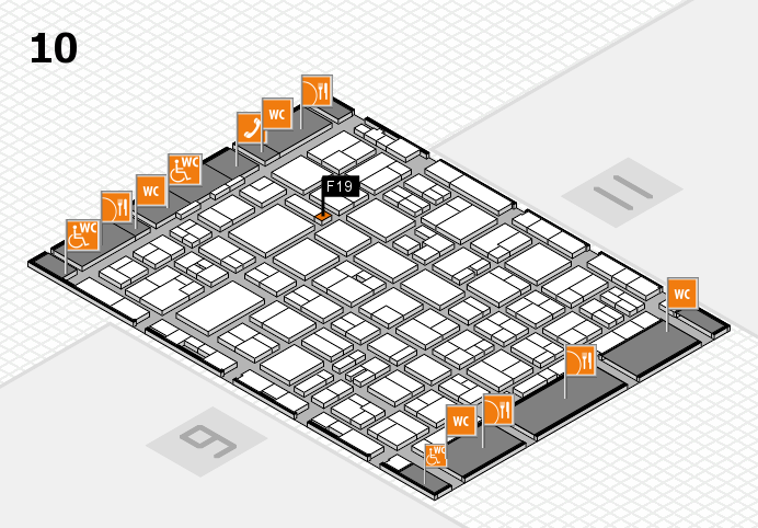 MEDICA 2016 hall map (Hall 10): stand F19
