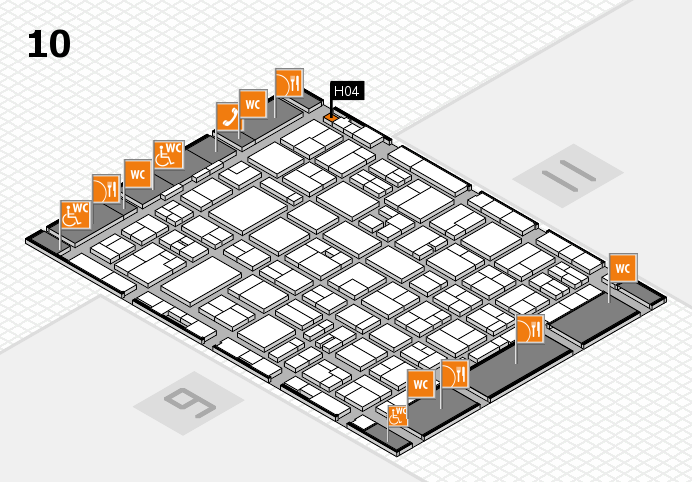 MEDICA 2016 hall map (Hall 10): stand H04