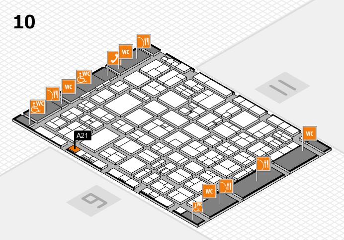 MEDICA 2016 hall map (Hall 10): stand A21