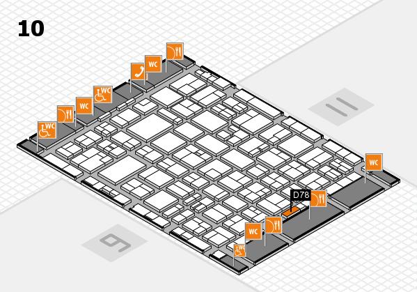MEDICA 2016 hall map (Hall 10): stand D78
