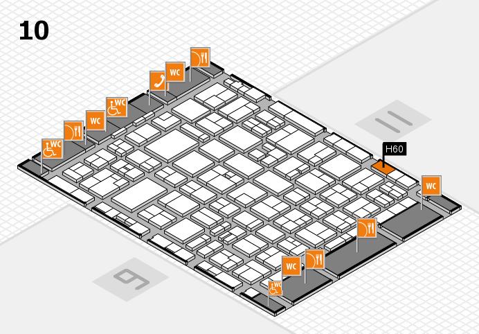 MEDICA 2016 hall map (Hall 10): stand H60