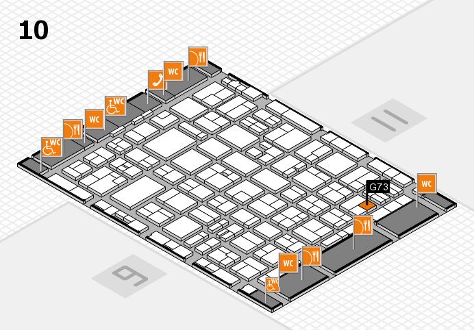 MEDICA 2016 hall map (Hall 10): stand G73