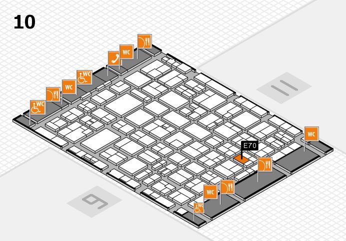 MEDICA 2016 hall map (Hall 10): stand E70