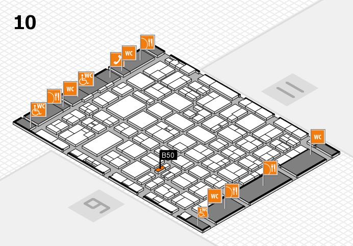 MEDICA 2016 hall map (Hall 10): stand B50