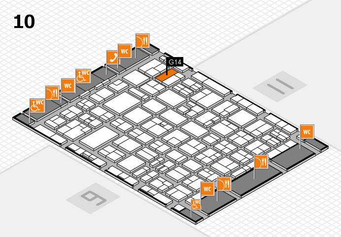 MEDICA 2016 hall map (Hall 10): stand G14