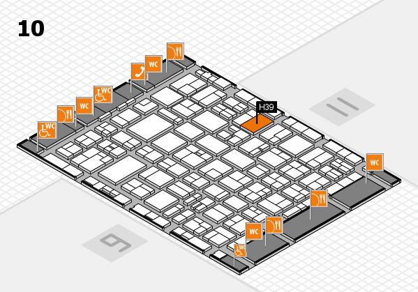 MEDICA 2016 hall map (Hall 10): stand H39
