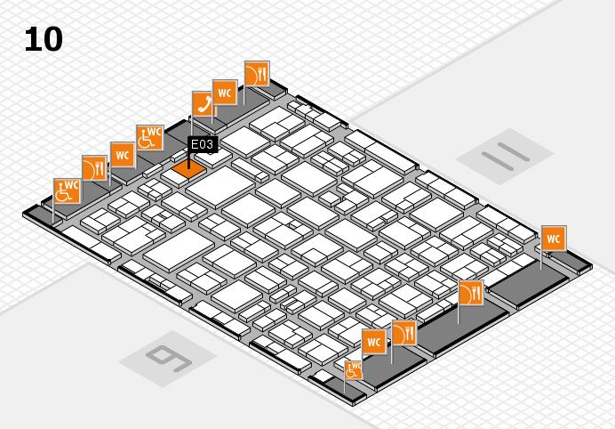 MEDICA 2016 hall map (Hall 10): stand E03