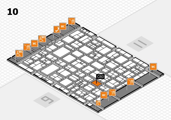 MEDICA 2016 hall map (Hall 10): stand C60