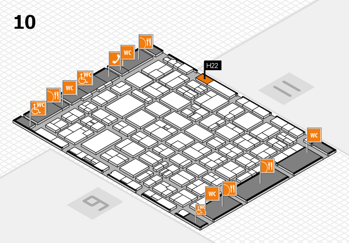 MEDICA 2016 hall map (Hall 10): stand H22