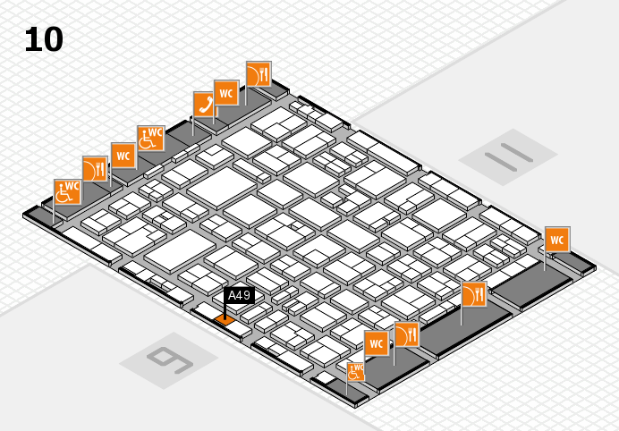 MEDICA 2016 hall map (Hall 10): stand A49