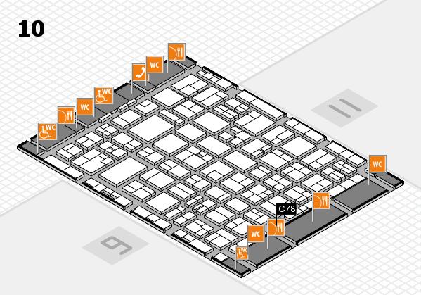 MEDICA 2016 hall map (Hall 10): stand C78