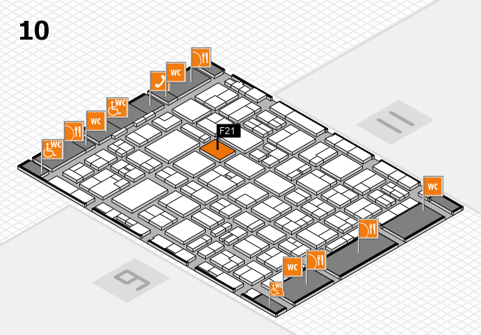 MEDICA 2016 hall map (Hall 10): stand F21