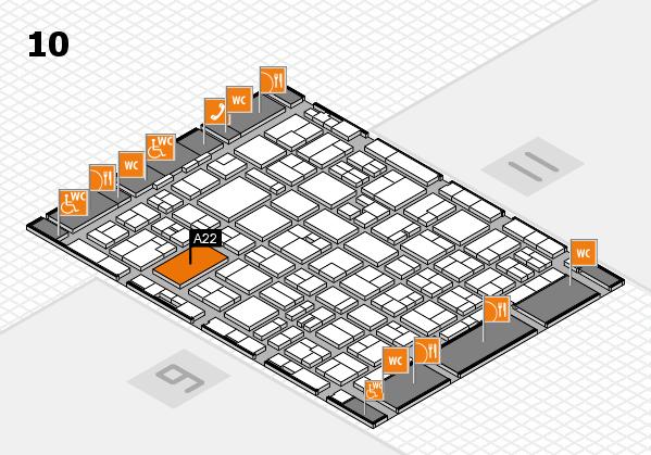 MEDICA 2016 hall map (Hall 10): stand A22
