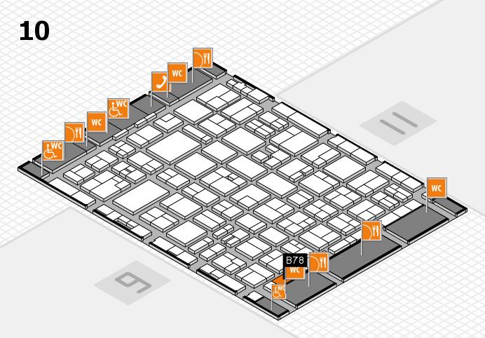 MEDICA 2016 hall map (Hall 10): stand B78