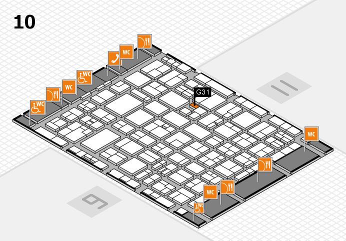 MEDICA 2016 hall map (Hall 10): stand G31