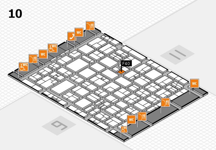 MEDICA 2016 hall map (Hall 10): stand F40