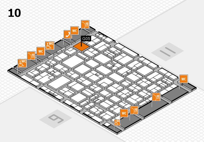 MEDICA 2016 hall map (Hall 10): stand G05