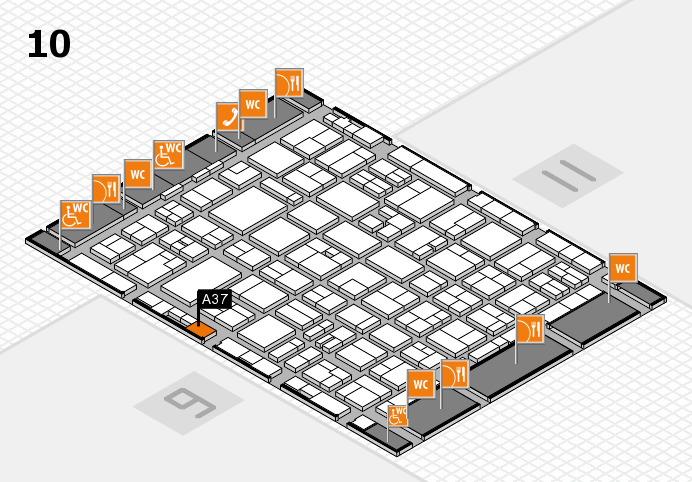 MEDICA 2016 hall map (Hall 10): stand A37
